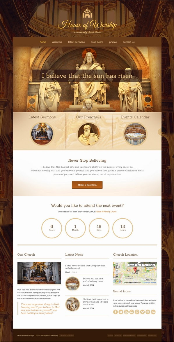 Responsive Church Website Template