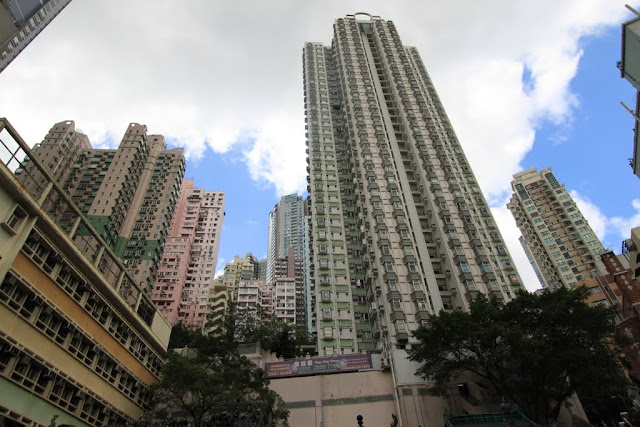 All the residential units are tiny and cramped to next unit in Hong Kong