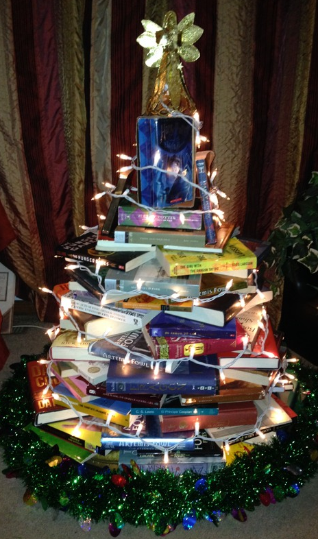 Tree made from Books!