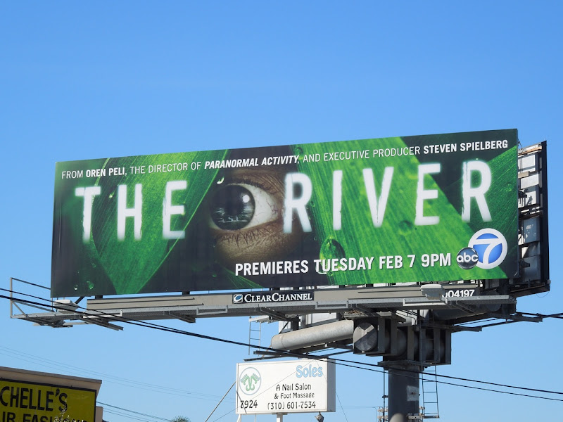 The River series premiere billboard