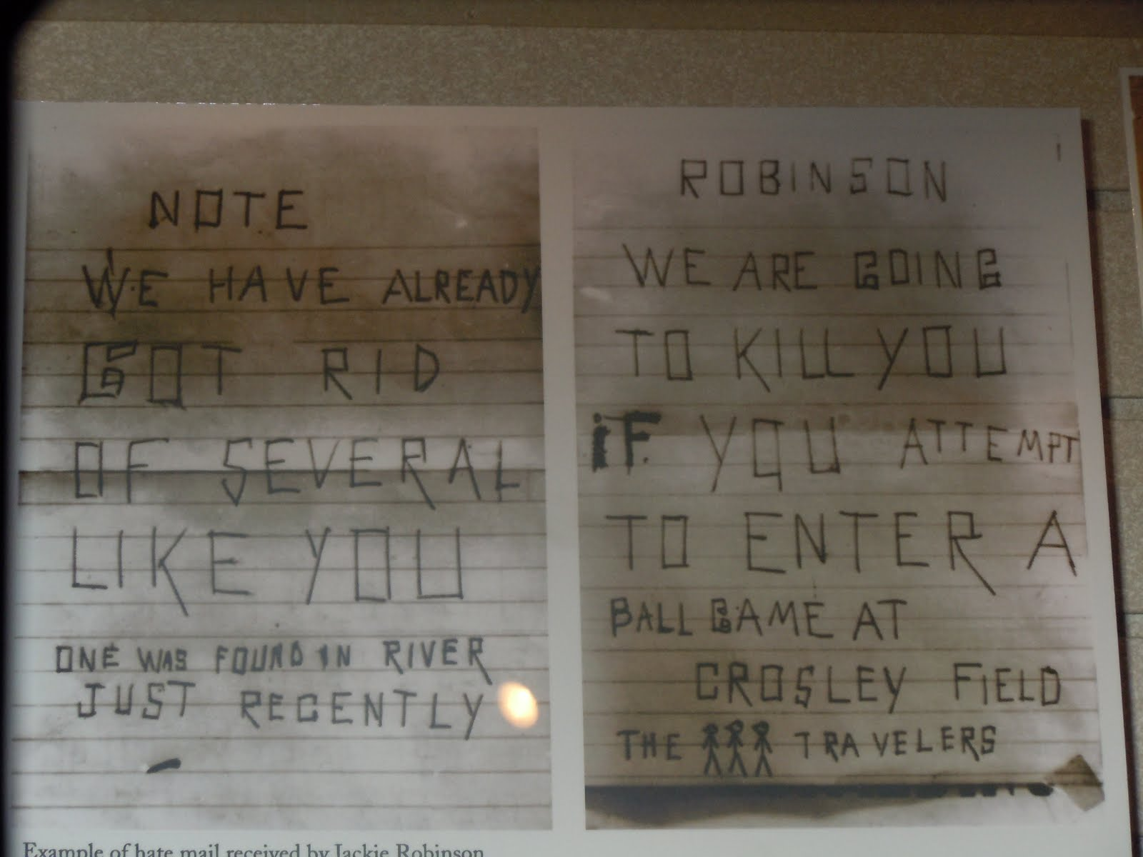 Jackie Robinson Death Threat