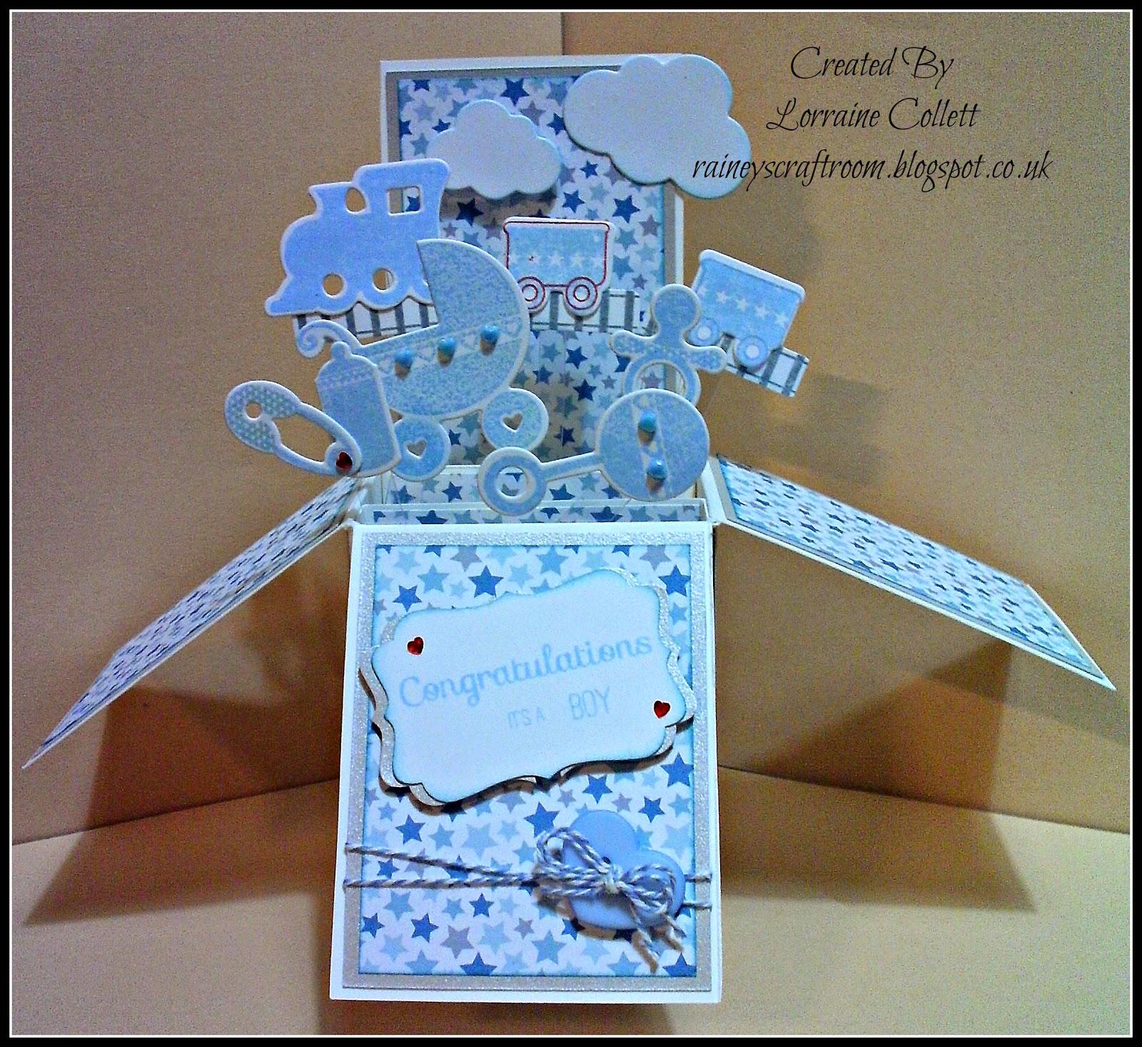rainey s craft room card in a box baby boy