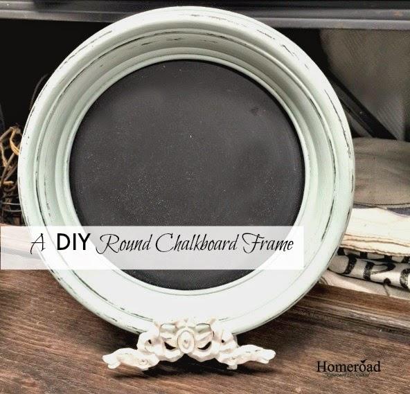 Round Chalkboard DIY frame