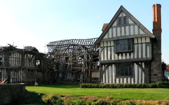 Staffordshire photo elizabethan house collapsing