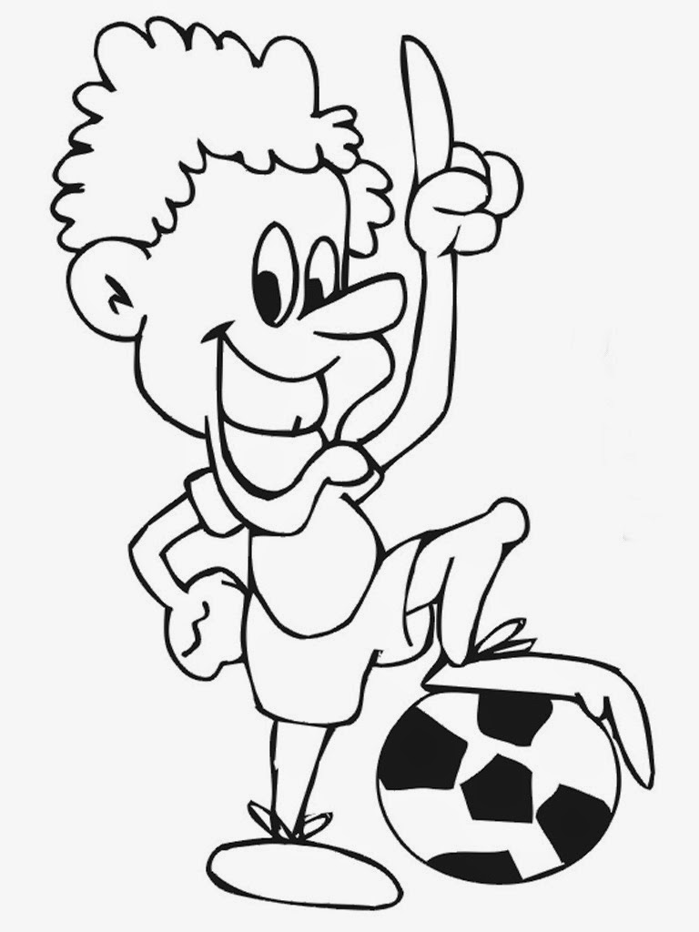 printable soccer player coloring pages