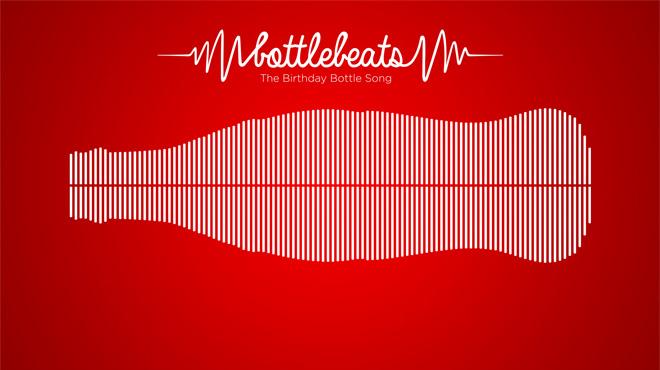 Coca Cola transforma el contorno de su botella en una canción