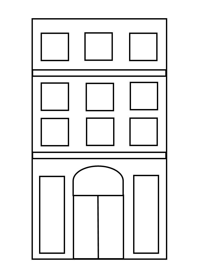 tall buildings coloring pages images