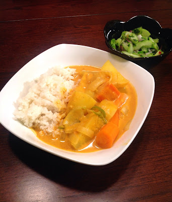thai yellow curry cucumber salad