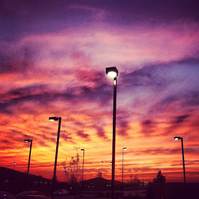 amazing sunset photo on iphone with instagram
