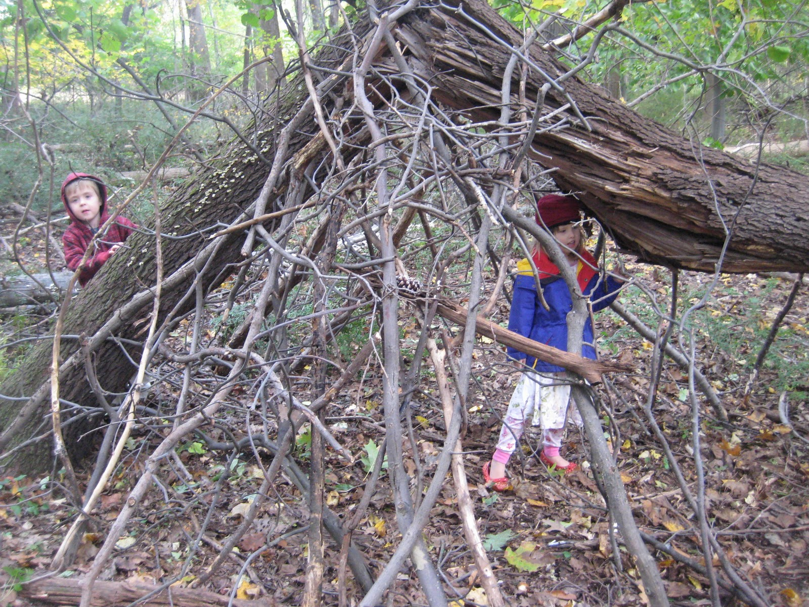 real family time cool fort building a hideout gets kids