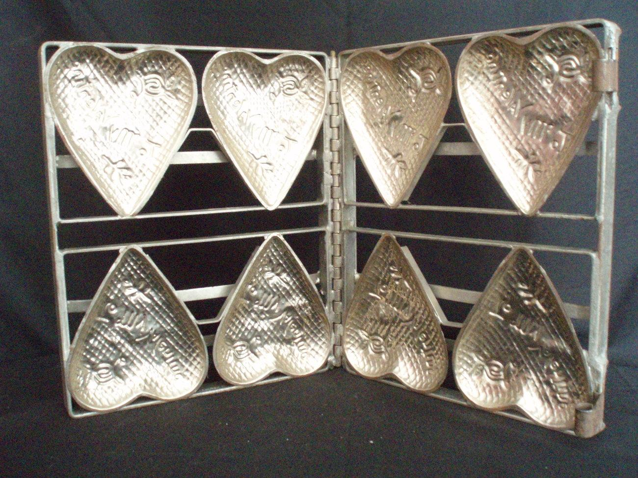 Dying For Chocolate Vintage Valentine Heart Chocolate Molds