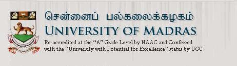 Madras University PG Degree Revaluation Result April 2014