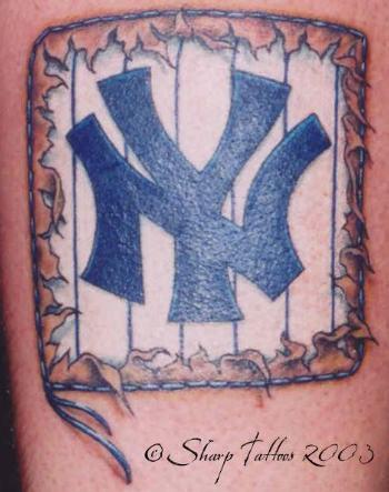tattoo design new york yankees tattoos. Black Bedroom Furniture Sets. Home Design Ideas