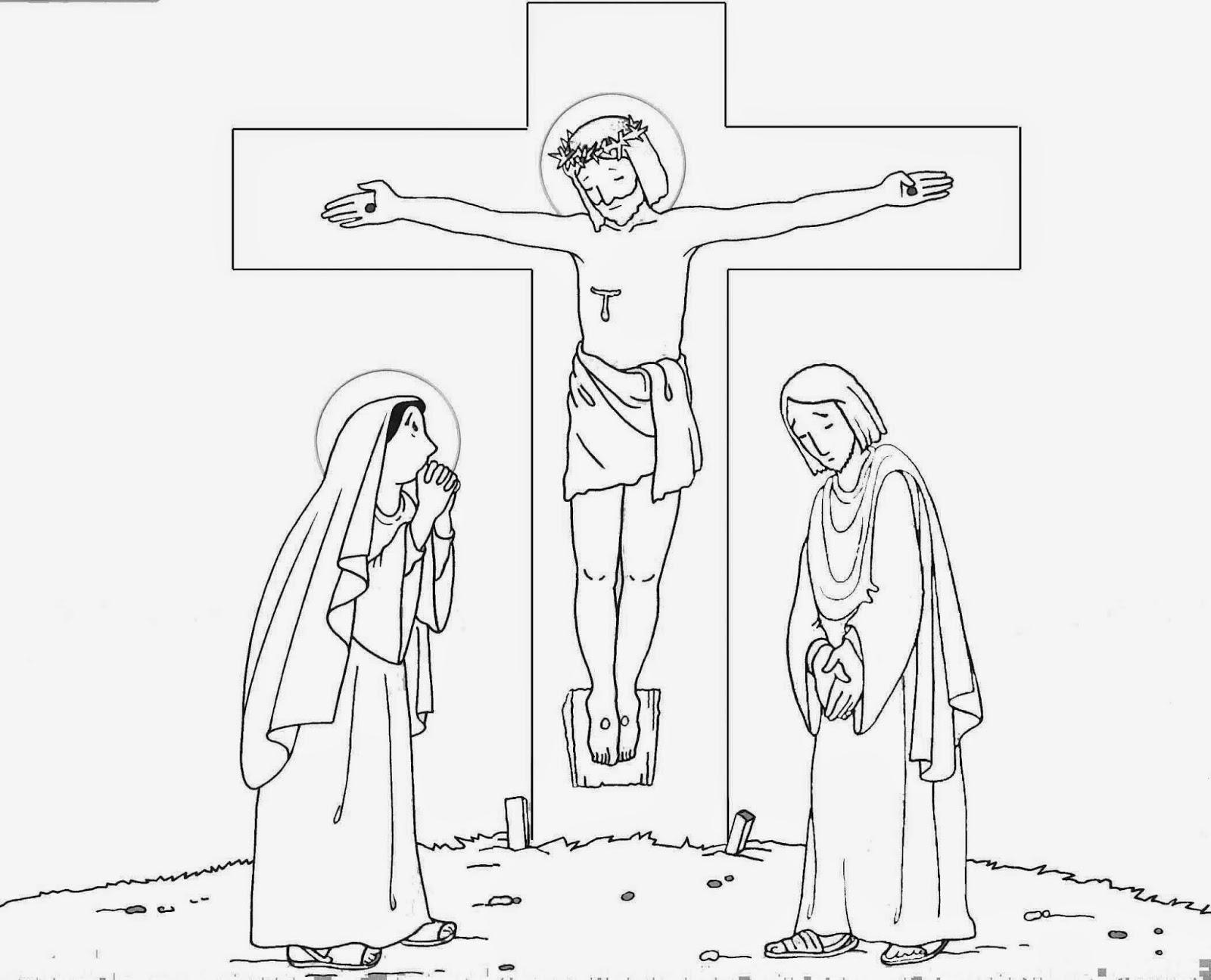 Educar con Jesús: Dibujos para el Viernes Santo