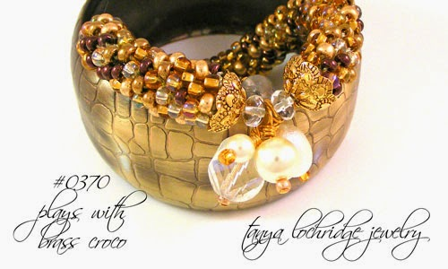 Glitzy Gold Crystal Quartz Bangle Bracelet