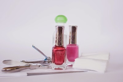 Nail Polish And Manicure Set Background by hyena reality