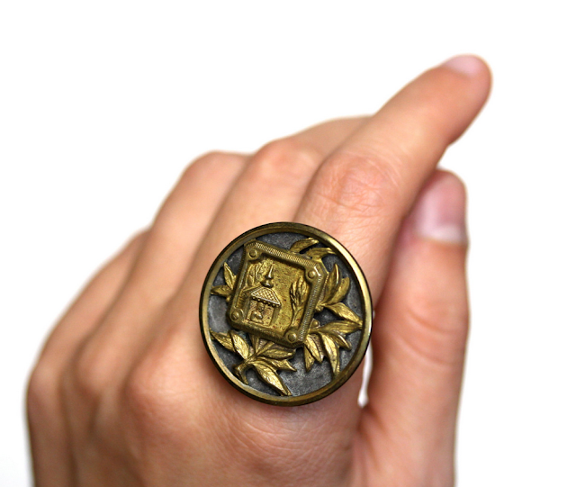 Antique Buddha Ring #1800s #jewelry #buddha #buddhist #ring