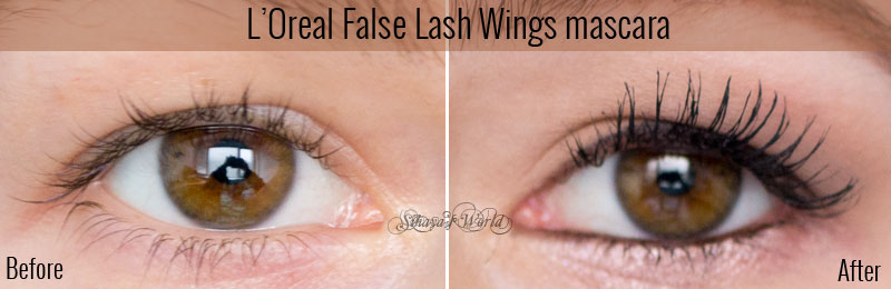 l'oreal false lash wings before & after
