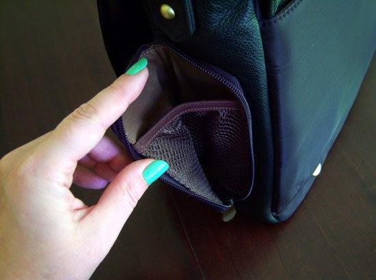 "Jill-e Designs Sasha 15"" Laptop Bag water bottle pocket"