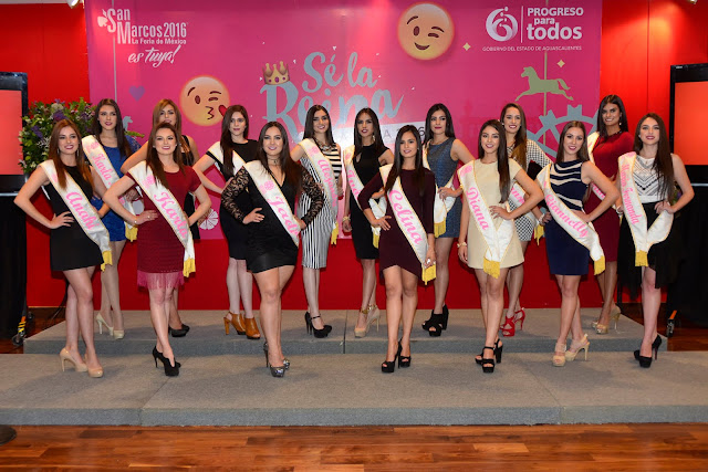 candidatas reina feria san marcos 2016