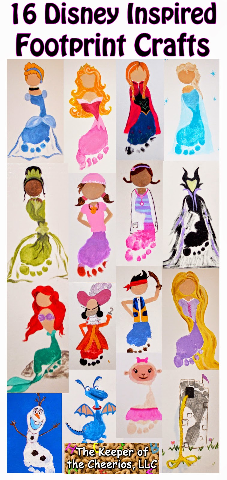 Disney Princess and Footprints Crafts