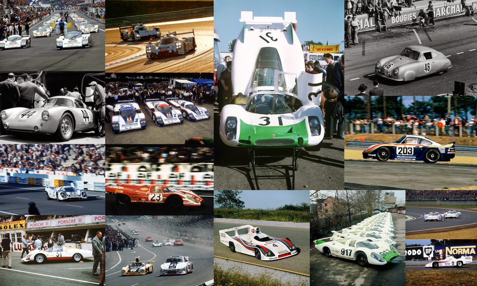 Porsche at Le Mans 1951 to 2014