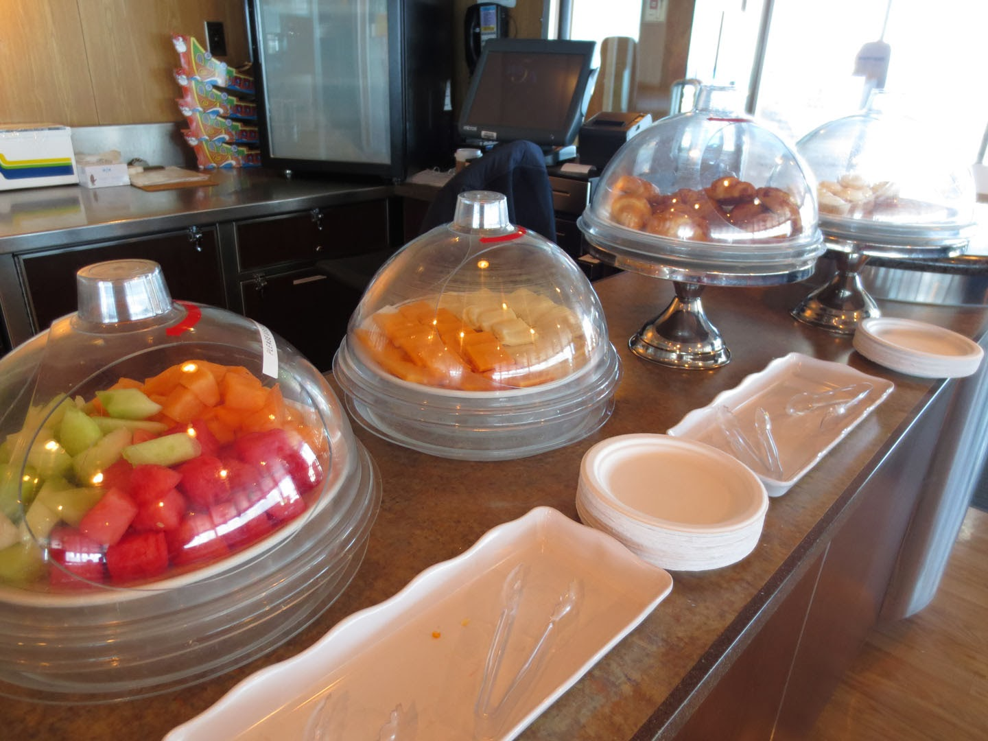 Fruit and light snacks at the Seawest Lounge, BC Ferries