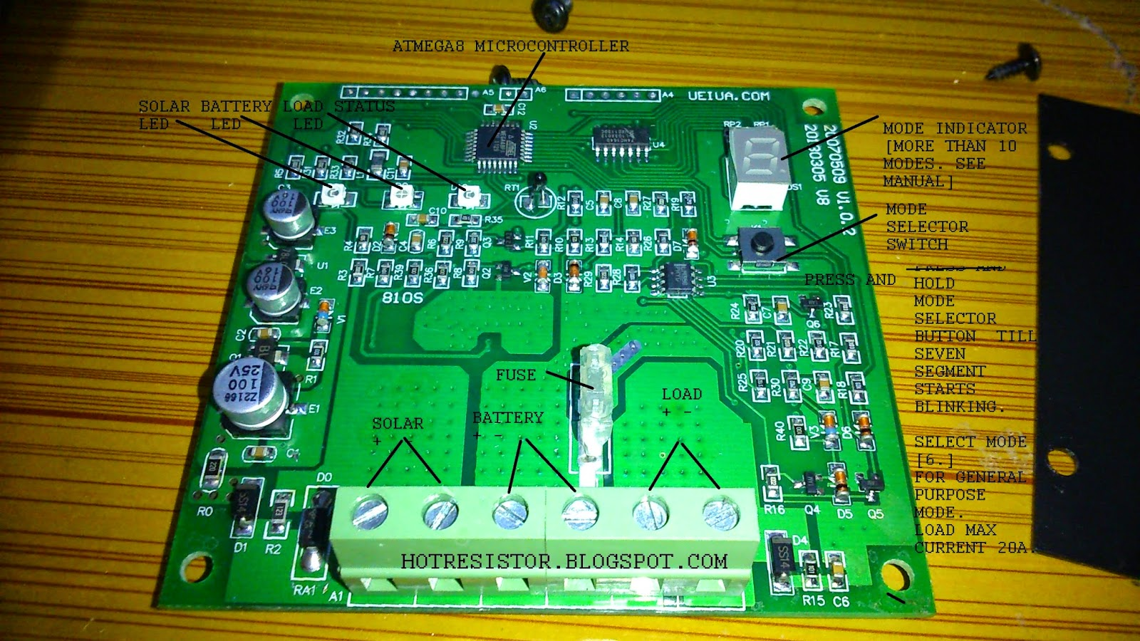 Inside Tour Solar Pwm Charge Controller Max Current Rating 20 Circuit Working With Microcontroller Amperes Instruction Manual Booklet