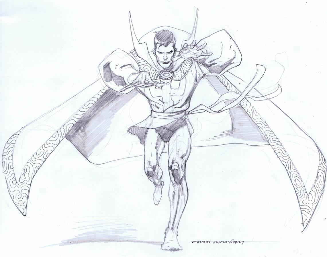Kevin Nowlan Dr Strange Sketches
