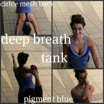lululemon pigment blue deep breath tank