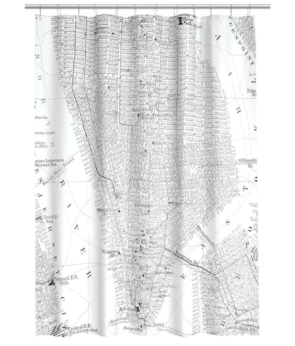 Capital A September - New york map restoration hardware
