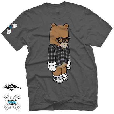 "UVD x outsmART Originals ""Bloggin' Bear Travis"" T-Shirt by JC Rivera"