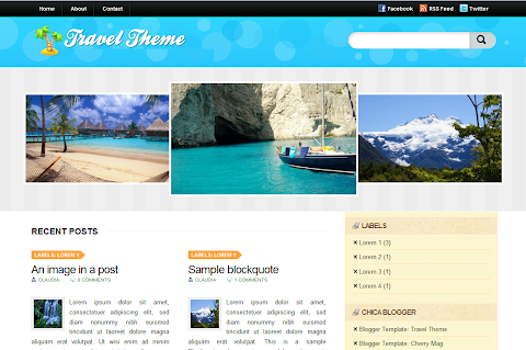 Travel Theme Blogger Theme