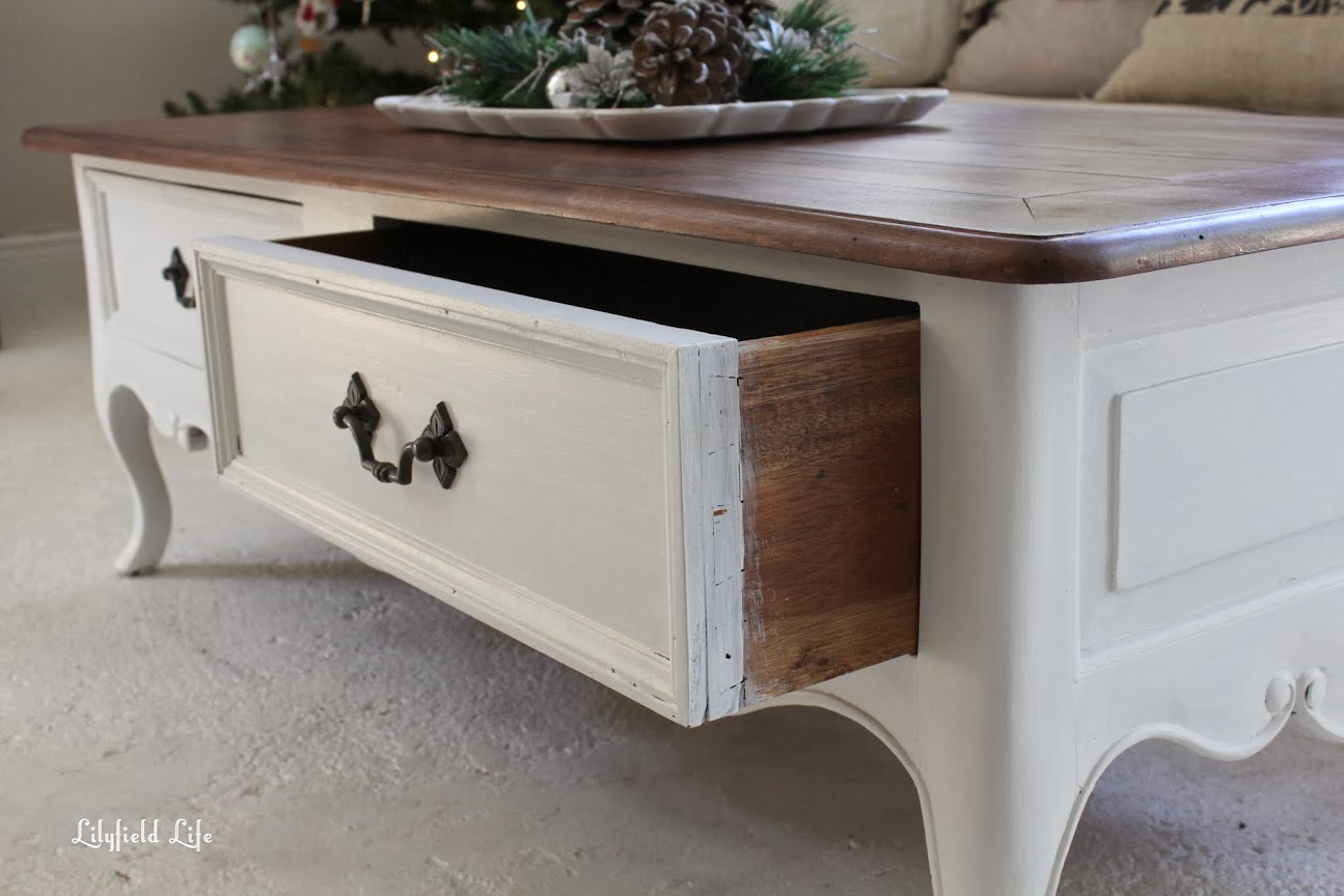 Perfect Hooray for drawers that slide well The coffee table