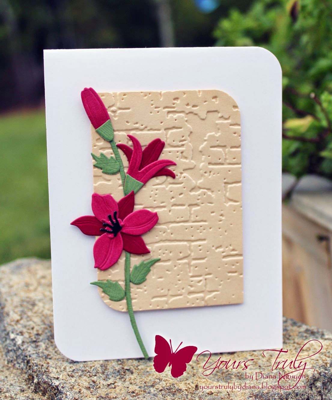 Diana Nguyen, My Favorite Things Lily, CAS, floral card