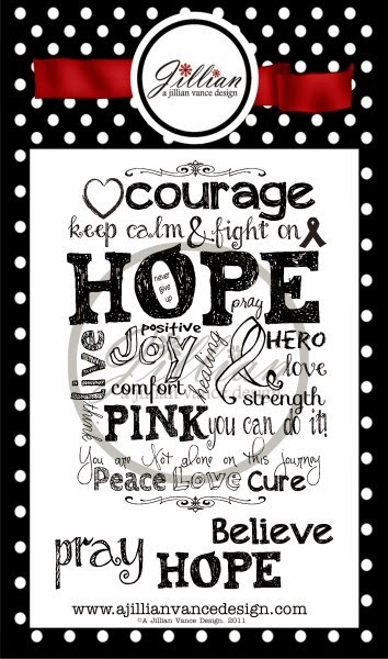 Hope Ink Pink stamp