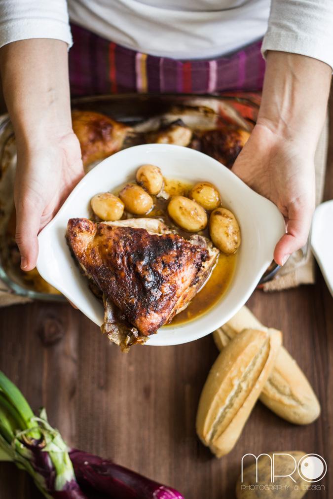 pollo jengibre, cocinando espero