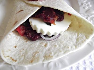 Tortilla wrap cu fasole rosie