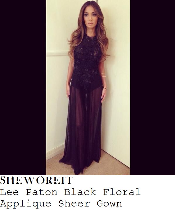 nicole-scherzinger-black-floral-applique-sheer-gown-x-factor