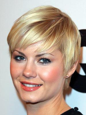 Hair Today Celebrity Short Style Elisha Cuthbert