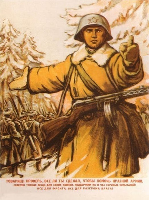 Soviet military posters of times of World War II. Comrade check whether you have all done to help the Red Army!