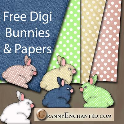 Free Bunny Digital Scrapbook Kit 47