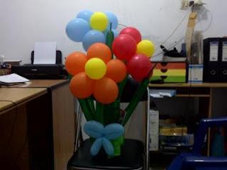 balon bunga Ulang Tahun