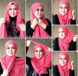 Inilah 7 Contoh Model Jilbab Untuk Wajah Bulat