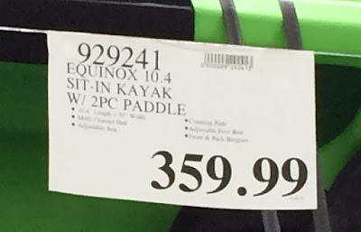 Deal Equinox 10.4 Sit-in Kayak at Costco