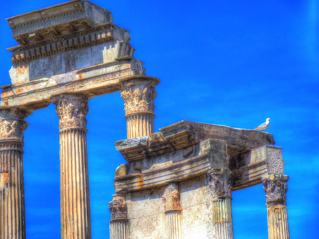 Rome, Italy - Roman Forum - Temple of Castor and Pollux - Close-up