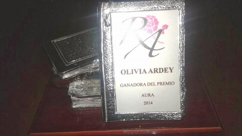 Premio Aura 2014 Autora del Año