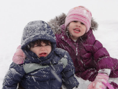 Wordless Wednesday: The kids first snow day!!