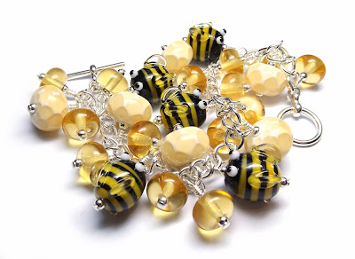Lampwork glass bracelet by Laura Sparling