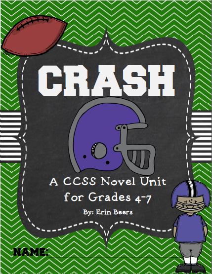 http://www.teacherspayteachers.com/Product/Crash-by-Jerry-Spinelli-CCSS-Novel-Unit-UPDATED-2014-865886